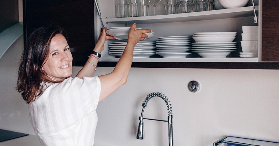 Destralhar a cozinha: organização de armários