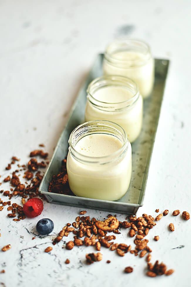 iogurte vegan vegetal caseiro - Let´s Talk by Alegro